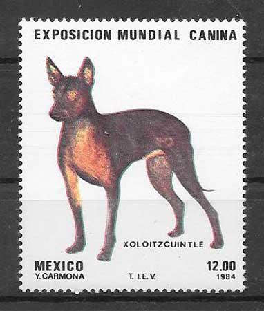 sellos perros México 1984