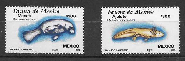 sellos fauna MÉXICO 1988