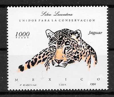 sellos fauna México 1991