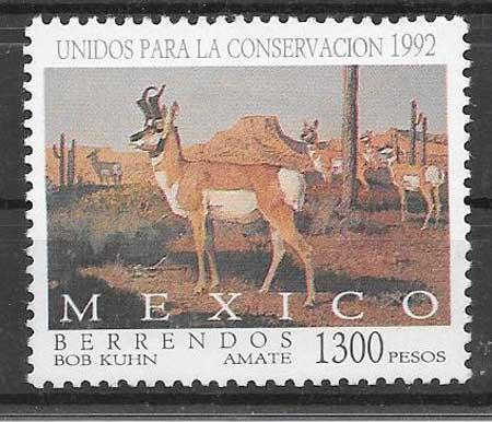 sellos colección fauna México 1992