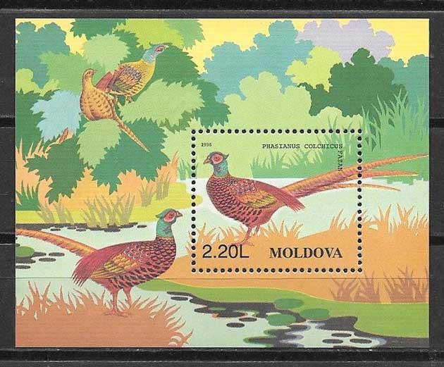 sellos fauna Moldavia 1996