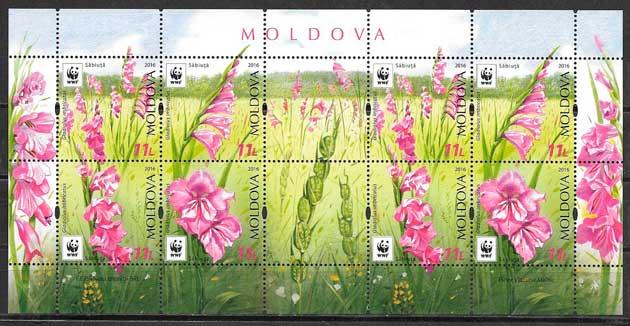 colección sellos fauna wwf Moldavia 2014