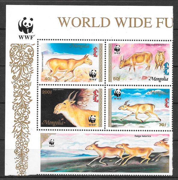 sellos fauna wwf Mongolia 1995
