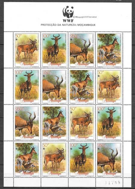 sellos fauna Monzambique 1991