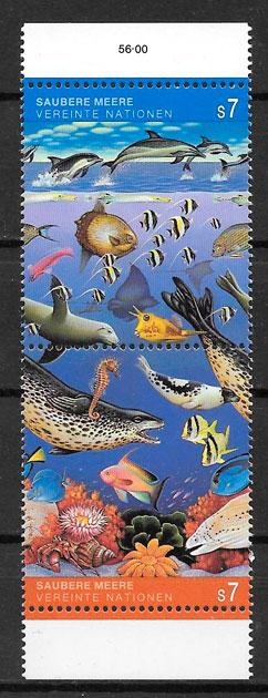 sellos fauna Naciones Unidas 1992