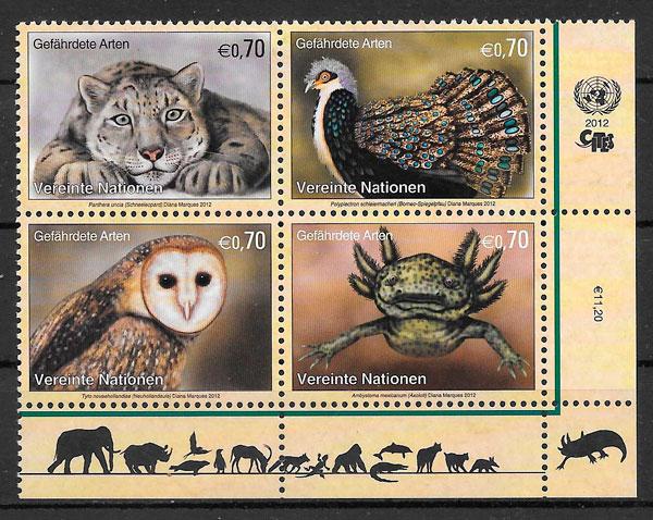 sellos fauna Naciones Unidas 2012