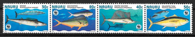 filatelia coleción wwf Nauru 1997