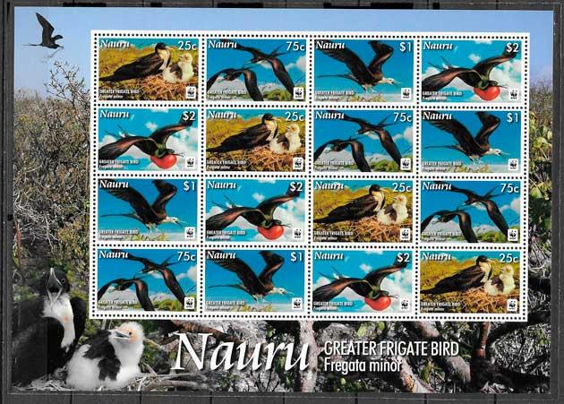 colección sellos fauna wwf Nauru 2008