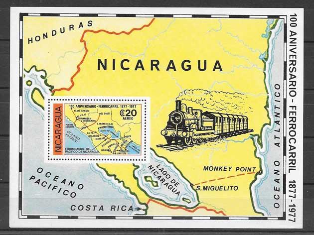 Colección sellos centenario de los trenes