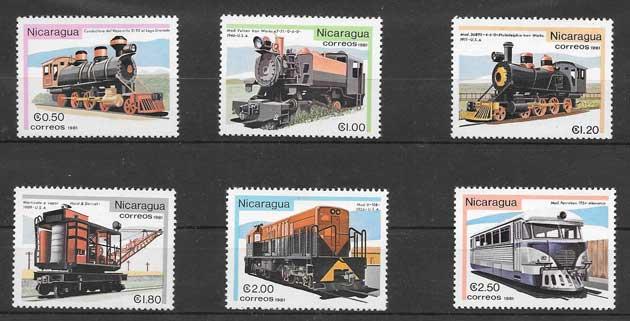 Sellos locomotoras diversas 1981