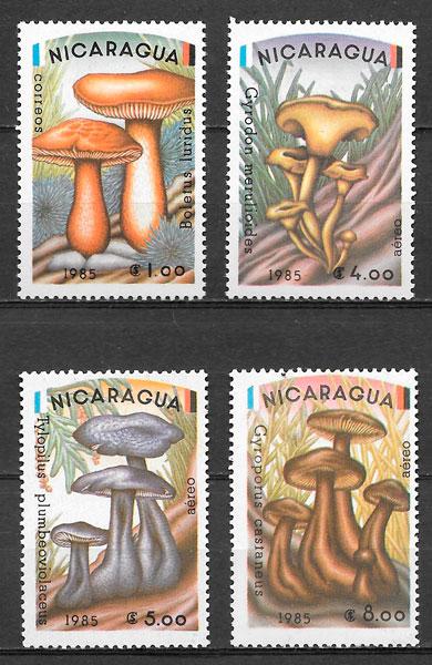 sellos setas Nicaragua 1985