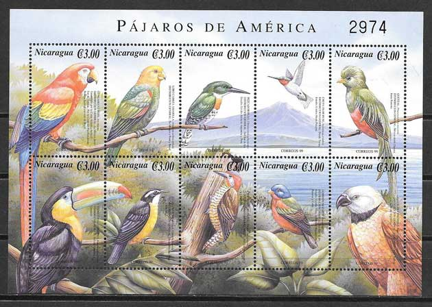 sellos fauna Nicaragua 2000
