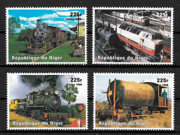 filatelia trenes Niger 1998