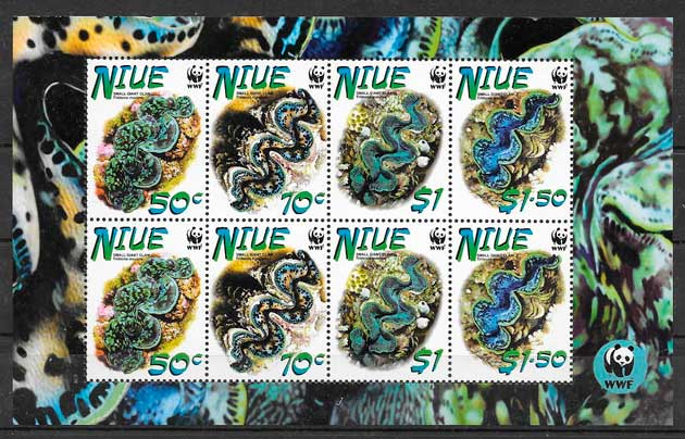filatelia fauna wwf Niue 2002