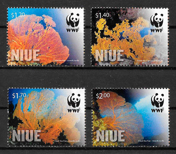 sellos wwf Niue 20012
