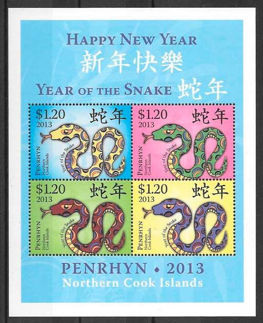 filatelia colección año lunar Penryn
