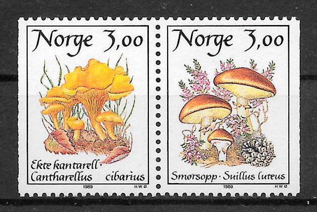 sellos setas Noruega 1989