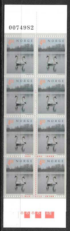 colección sellos fauna Noruega 1999