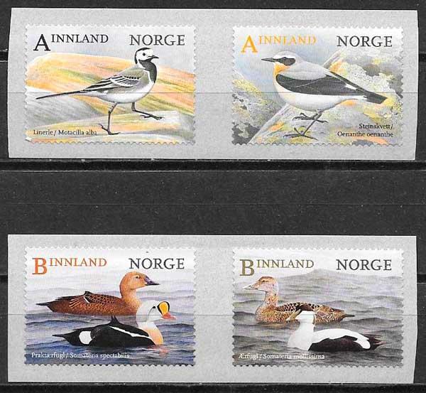 filatelia fauna Noruega 2015