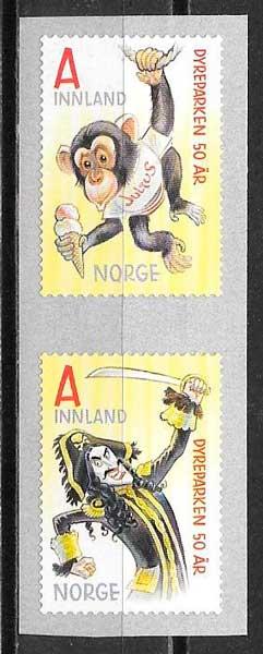 filatelia fauna Noruega 2016
