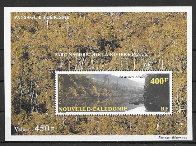 Sellos Nueva Caledonia Parques Naturales 1992