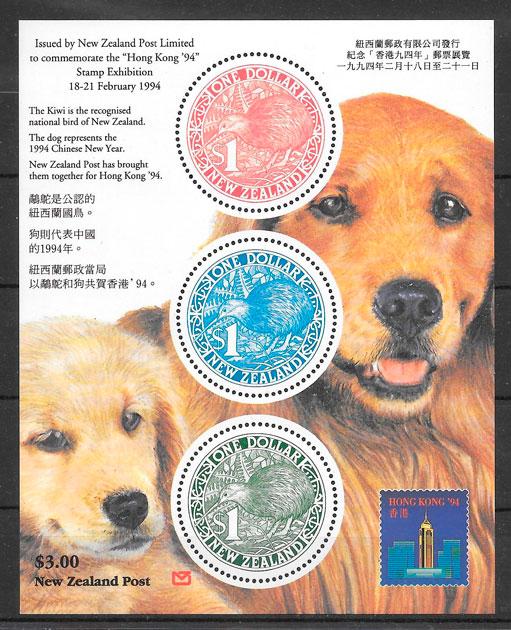 filatelia año lunar Nueva Zelanda 1994