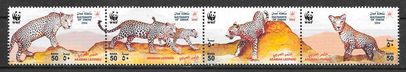 filatelia fauna wwf Oman 2004