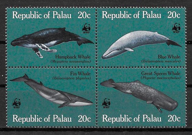 sellos wwf Palau 1983
