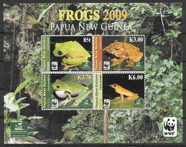 Sellos colección fauna wwf Nueva Guinea