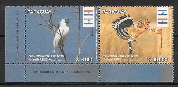 sellos fauna Paraguay 2016