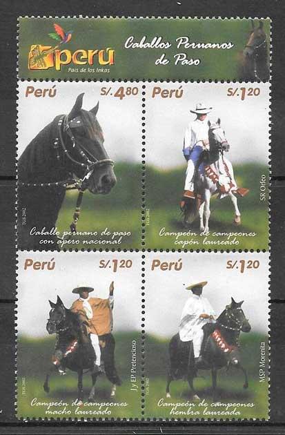 colección sellos fauna Perú 2004