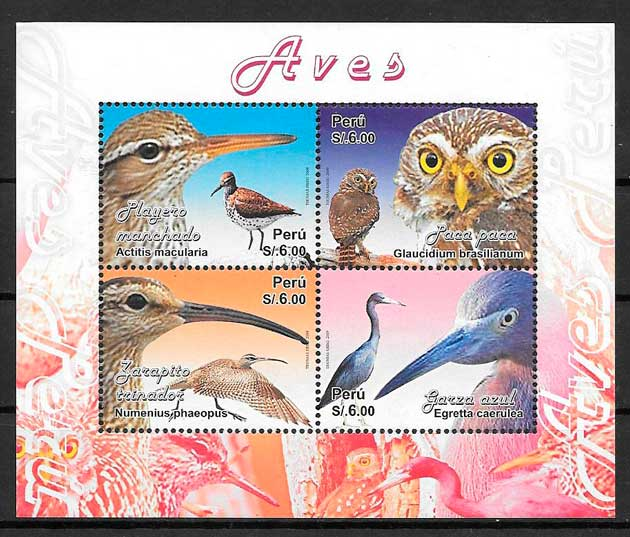 sellos fauna Perú 2009