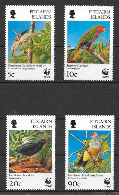 filatelia fauna wwf Pitcairin Island1996