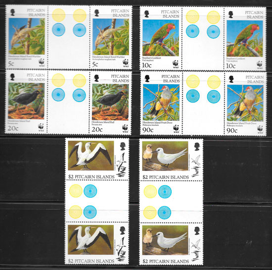 sellos fauna Pitcairin Island 1996