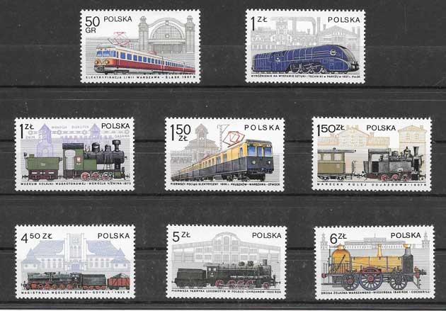 Sellos filatelia historia de las comunicaciones ferroviarias
