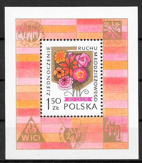 filatelia flores Polonia 1978