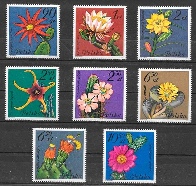 sellos flora Polonia 1981