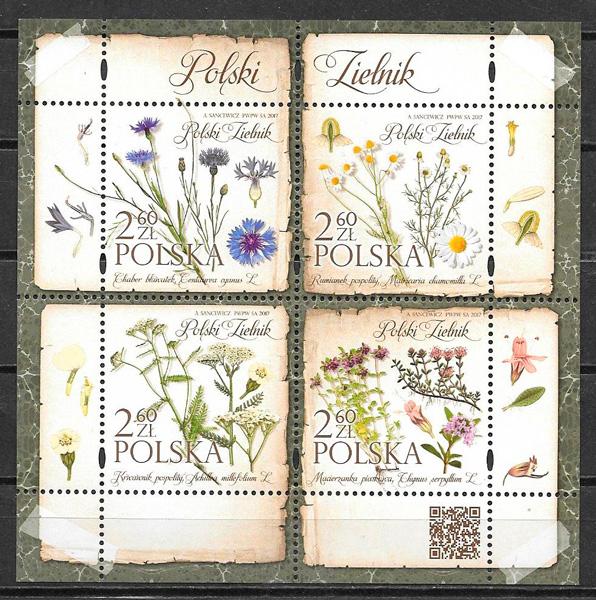 filatelia flora Polonia 2017