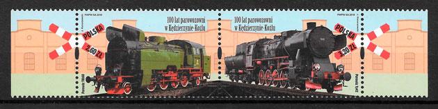 sellos trenes Polonia 2018
