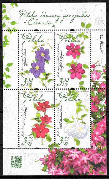 colección selos flora Polonia 2019