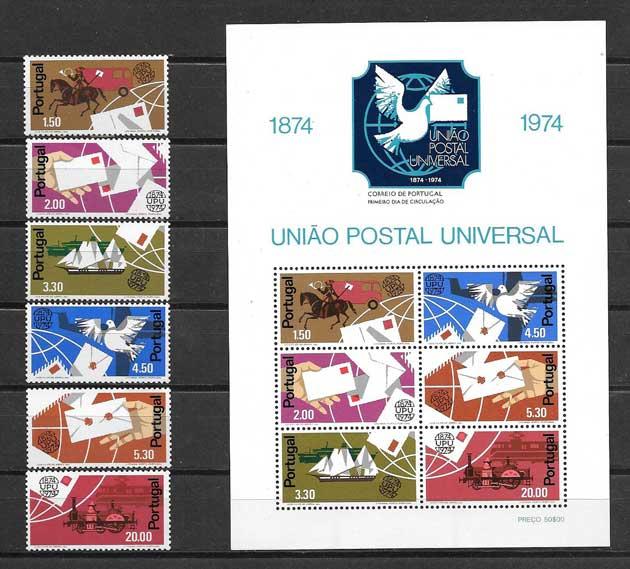 Colección sellos Año postal universal de Portugal