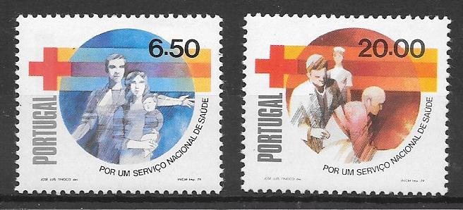 sellos cruz roja Portugal 1979