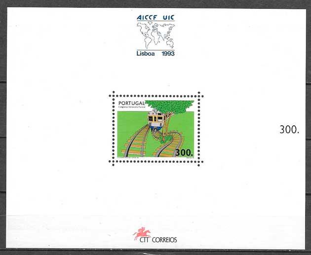 sellos trenes Portugal 1993
