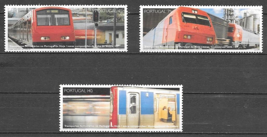 filatelia trenes Portugal 1993
