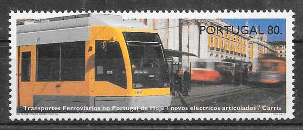 filatelia trenes Portugal 1995
