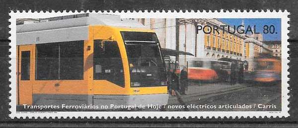 filatelia trenes Portugal 1995