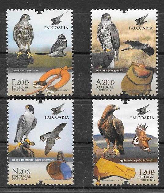 filatelia fauna Portugal 2013