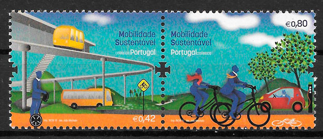filatelia trenes Portugal 2015