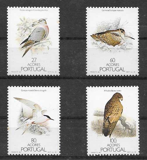 Sellos fauna - aves diversas 1988