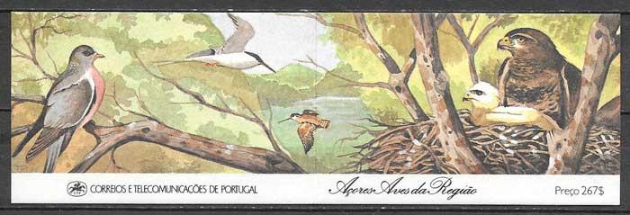 sellos fauna Portugal Azores 1988